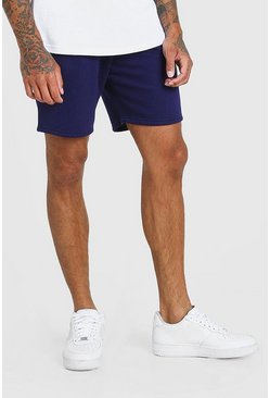 SHORT MI-LONG EN JERSEY BASIC, Marine