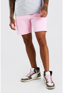 Pale pink BASIC MID LENGTH JERSEY SHORT