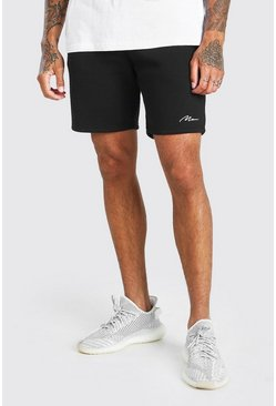 Black MAN Signature Mid Length Short