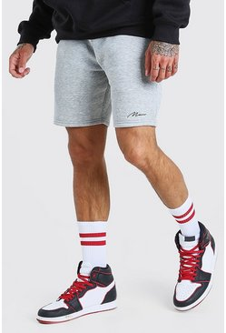 Grey marl MAN SIGNATURE MID LENGTH SHORT
