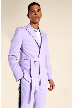 Lilac Relaxed Wrap Tie Suit