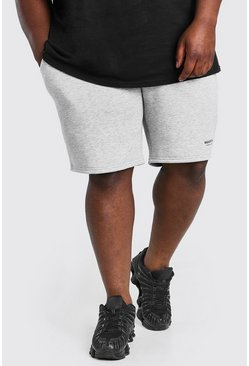 Grey marl Big & Tall MAN Short with Elastic Waistband