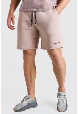 Pink Big and Tall MAN Short with Elastic Waistband