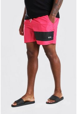 Red Big & Tall MAN Official Mid Length Swimshort