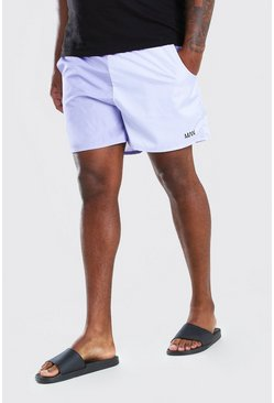 Lilac Big And Tall MAN Colour Block Mid Swim Short