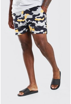 Khaki Big & Tall MAN Camo Print Short Swimshort