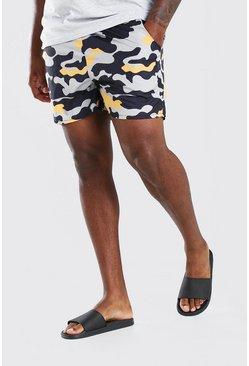 Khaki Big And Tall MAN Camo Print Short Swim Short