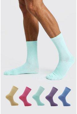 Multi 5 Pack Suit Socks