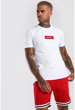 White Original MAN Red Box Print T-Shirt