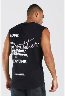 Black Pride Together Graffiti Print Tank