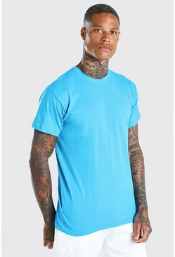 Teal Basic Crew Neck T-Shirt