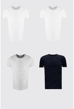 Multi 4 Pack Crew Neck T-Shirt