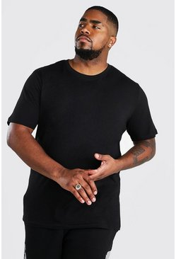 Black Big And Tall Basic Crew Neck T-Shirt