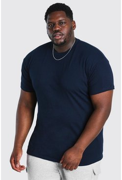 Navy Big And Tall Basic Crew Neck T-Shirt