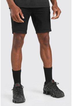 Black Skinny Fit Jean Short