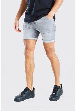Grey Skinny Fit Jean Short