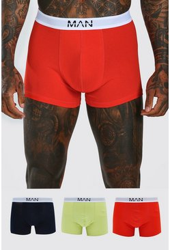 MAN Dash Multi Colour 3 PK Boxer