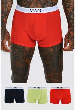 MAN Dash Multi Colour 3 PK Boxer