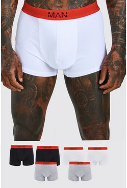 Multi MAN Dash 7PK Boxer With Contrast Waistband