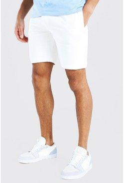 Ecru Basic Mid Length Jersey Short