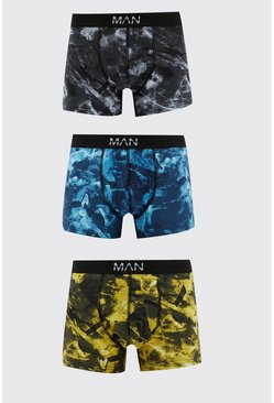 Multi 3 Pack Tie Dye Look Boxers