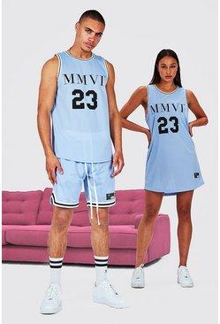 Blue His Airtex Tank Top Basketball Set