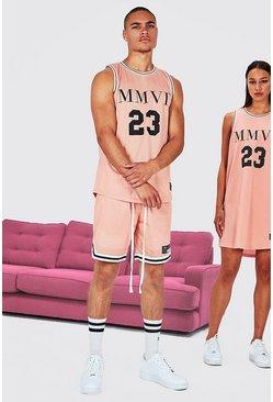 Pink His Airtex Vest Basketball Set