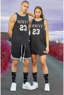 Black Hers Airtex Basketball Dress