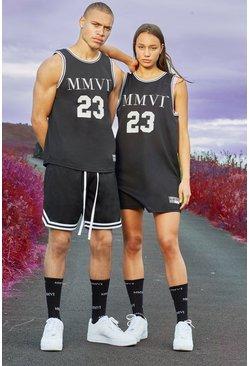 Black Hers Airtex Basketball Dress