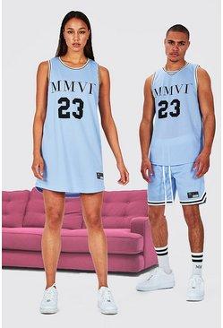 Blue Hers Airtex Basketball Dress