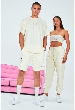 Stone His Printed Oversized Raw Hem T-Shirt & Short Set