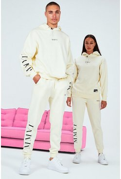 Stone His Oversized Tracksuit With Elastic Drawcord & Tab