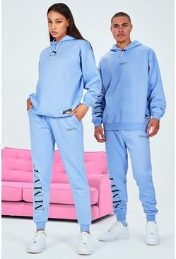 Blue Hers Oversized Elastic Drawcord & Tab Tracksuit