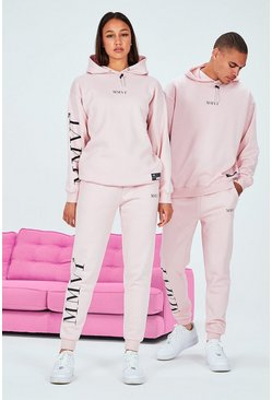 Pink Hers Oversized Elastic Drawcord & Tab Tracksuit