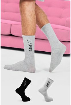 Multi 2 Pack MMVI Printed Socks