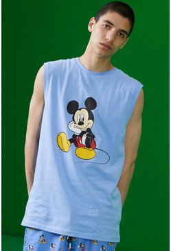 Blue Disney Mickey Printed Tank
