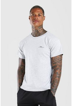 Grey Man Signature Chest Print T-Shirt