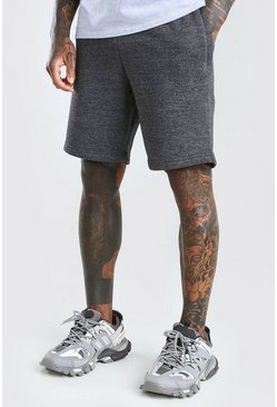 Charcoal Basic Mid Length Jersey Short
