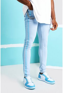 Ice blue Super Skinny Stripe Jean