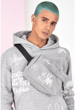 Grey marl Graffiti Bag