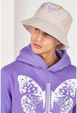 Stone Butterfly Print Bucket Hat
