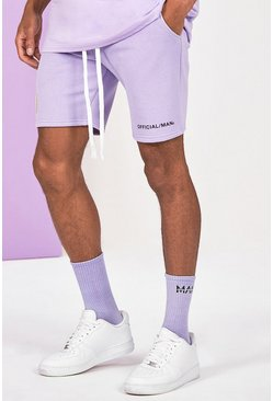 Lilac Mid Length Official Man Print Jersey Short