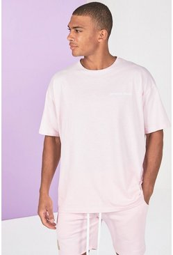 T-shirt teint par pigments, Rose