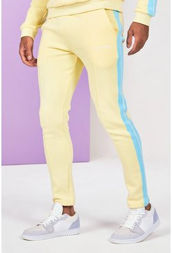 Yellow Side Tape Jogger