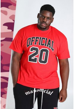 Red Big and Tall Official 20 Print T-Shirt