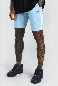 Powder blue  MAN Tricot Mid Lentgh Short With Side Tape