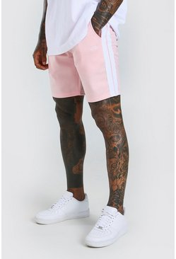 Pale pink MAN Tricot Mid Lentgh Short With Side Tape