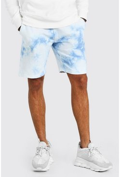 Blue Original MAN Mid Length Tie Dye Short