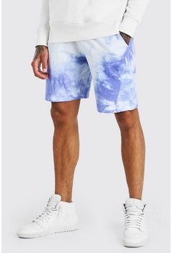 Purple Original MAN Mid Length Tie Dye Short