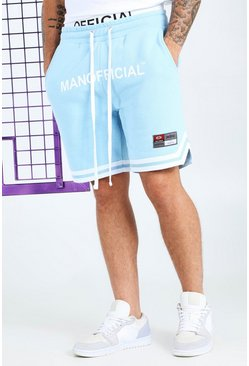Powder blue Official MAN Elastic Waistband Tape Short